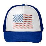 Bandera de los Estados Unidos de América hecha de  Gorro De Camionero