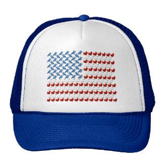 Bandera de los Estados Unidos de América hecha de  Gorro