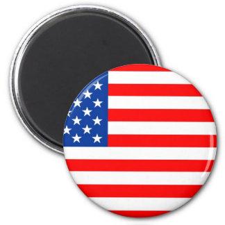 Bandera de los Estados Unidos de América Imán Redondo 5 Cm