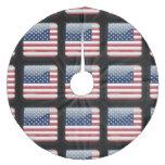 Bandera de los Estados Unidos de América Falda De Árbol De Navidad De Forro Polar