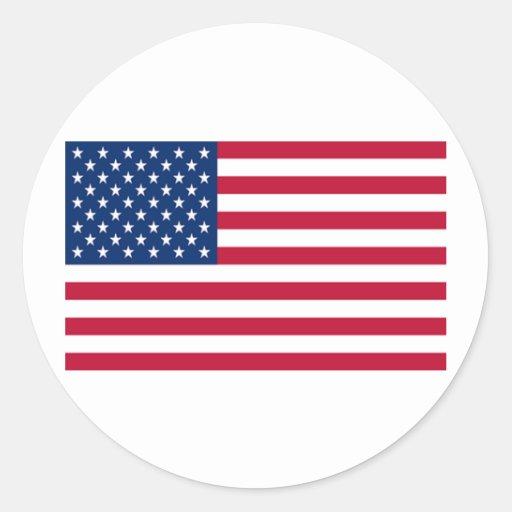 Bandera de los Estados Unidos de América Pegatinas Redondas