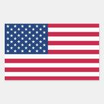 Bandera de los Estados Unidos de América Rectangular Pegatina