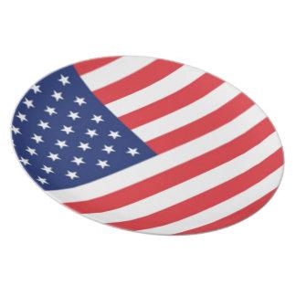 Bandera de los Estados Unidos de América Platos Para Fiestas