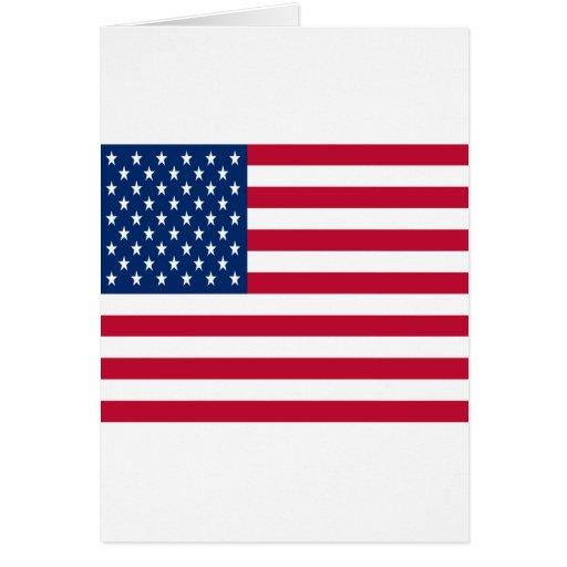 Bandera de los Estados Unidos de América Tarjeta De Felicitación