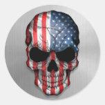 Bandera de los Estados Unidos en un gráfico de ace Pegatinas Redondas