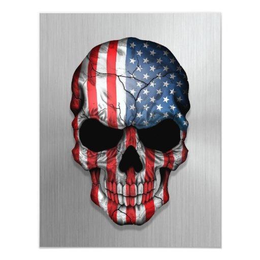 Bandera de los Estados Unidos en un gráfico de Invitación 10,8 X 13,9 Cm