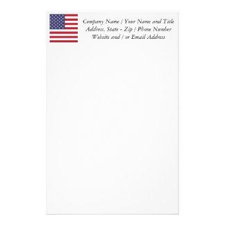 Bandera de los Estados Unidos Papeleria