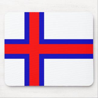 Bandera de los Faroe Island Alfombrillas De Ratón