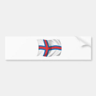 Bandera de los Faroe Island Pegatina De Parachoque