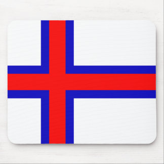 Bandera de los Faroe Island Tapetes De Raton