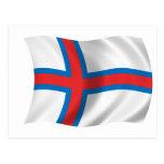 Bandera de los Faroe Island Tarjeta Postal