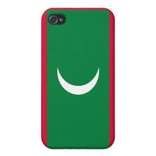Bandera de los Maldivas iPhone 4 Funda