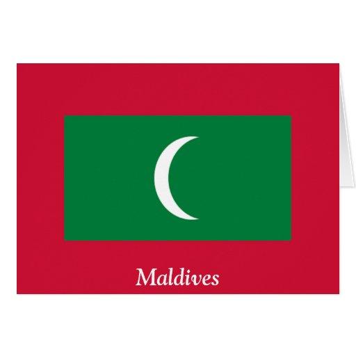 Bandera de los Maldivas Tarjeta De Felicitación