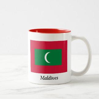 Bandera de los Maldivas Taza De Dos Tonos