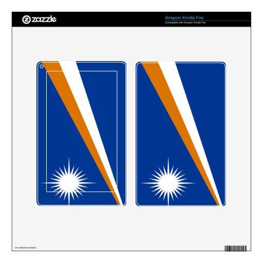 Bandera de los Marshall Islands Kindle Fire Pegatinas Skins