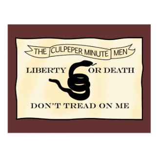 Bandera de los Minutemen de Culpeper Postal