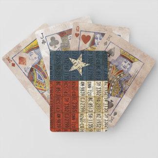 Bandera de los naipes del arte de la placa de Teja Barajas De Cartas