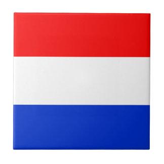 Bandera de los Países Bajos Azulejo Cuadrado Pequeño