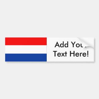 Bandera de los Países Bajos Pegatina Para Coche