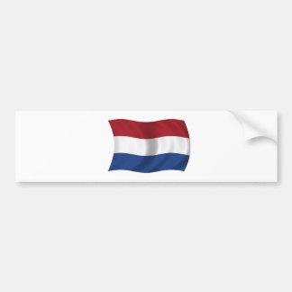 Bandera de los Países Bajos Etiqueta De Parachoque