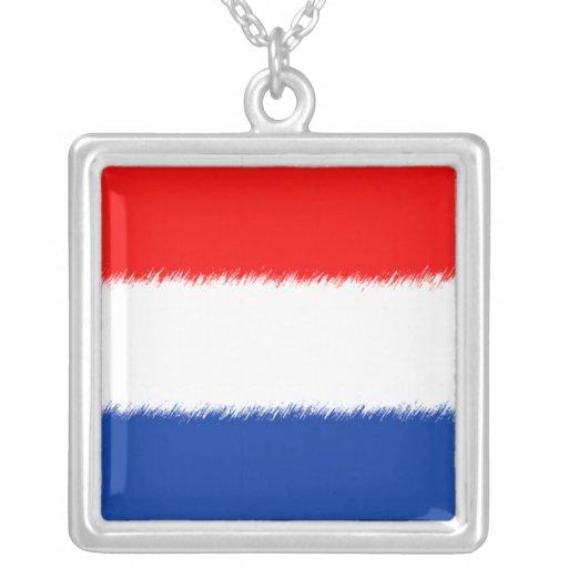 Bandera de los Países Bajos Colgante Cuadrado
