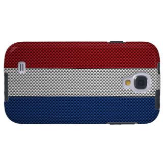 Bandera de los Países Bajos con efecto de la fibra Funda Para Galaxy S4