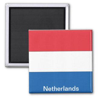 Bandera de los Países Bajos Imán Cuadrado