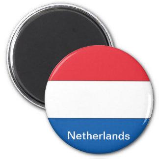 Bandera de los Países Bajos Imán Redondo 5 Cm