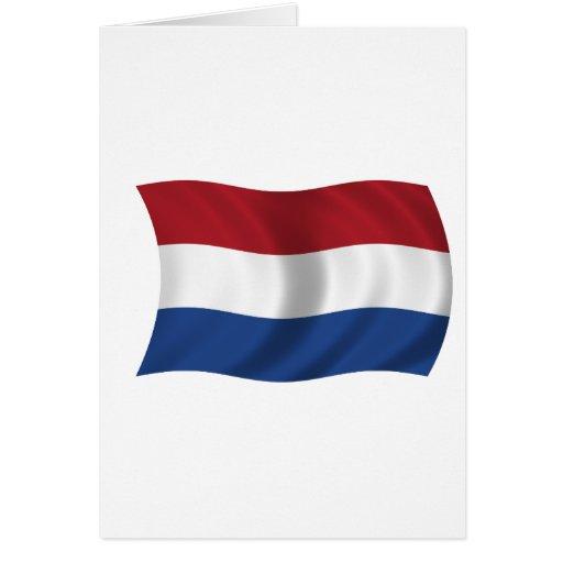 Bandera de los Países Bajos Tarjetón
