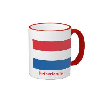 Bandera de los Países Bajos Taza De Dos Colores