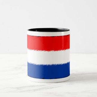 Bandera de los Países Bajos Taza De Dos Tonos