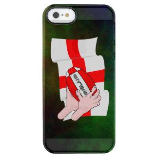 Bandera de los partidarios del equipo del rugbi de funda clearly™ deflector para iPhone 5 de uncommon