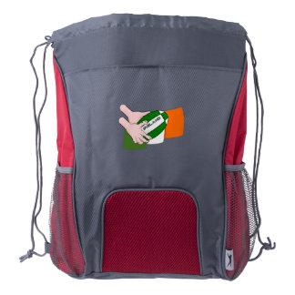 Bandera de los partidarios del equipo del rugbi de mochila de cordón