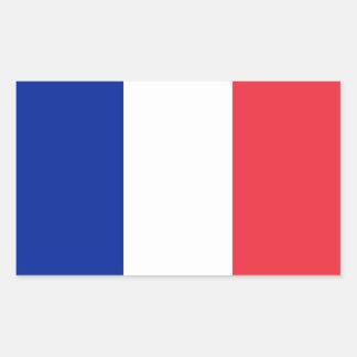 Bandera de los pegatinas de Francia Pegatina Rectangular