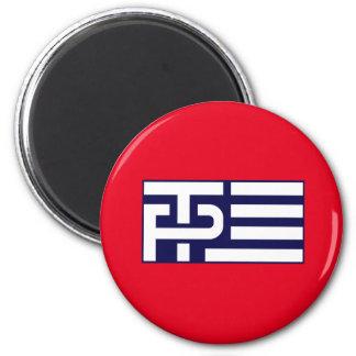 Bandera de los peniques del triunfo - azul - - imán redondo 5 cm