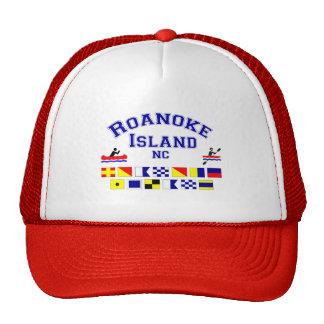 Bandera de los Sig del NC de la isla de Roanoke Gorra