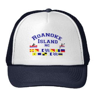Bandera de los Sig del NC de la isla de Roanoke Gorro De Camionero