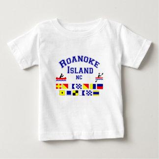 Bandera de los Sig del NC de la isla de Roanoke Playeras