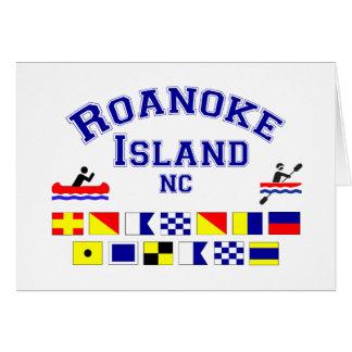 Bandera de los Sig del NC de la isla de Roanoke Tarjeta De Felicitación