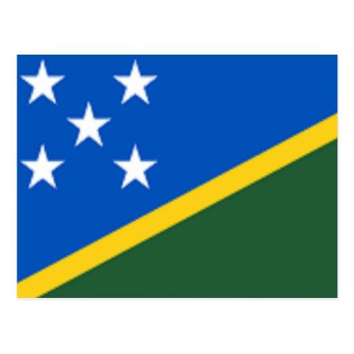 Bandera de los Solomon Island Tarjetas Postales