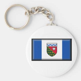 Bandera de los territorios del noroeste (Canadá) Llaveros Personalizados