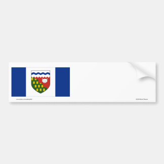Bandera de los territorios del noroeste, Canadá Pegatina Para Auto
