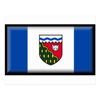 Bandera de los territorios del noroeste (Canadá) Postal