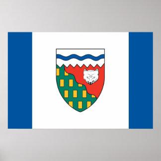 Bandera de los territorios del noroeste posters