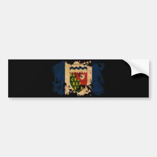 Bandera de los territorios del noroeste pegatina para auto