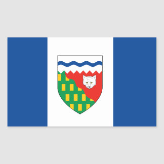 Bandera de los TERRITORIOS DEL NOROESTE Pegatina Rectangular