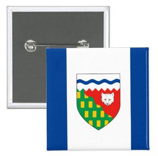 Bandera de los TERRITORIOS DEL NOROESTE Pin Cuadrado