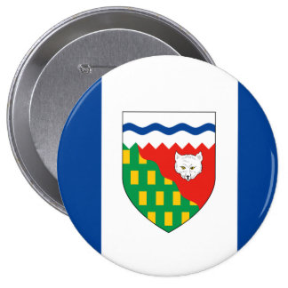 Bandera de los TERRITORIOS DEL NOROESTE Pin Redondo De 4 Pulgadas