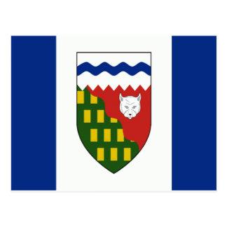 Bandera de los territorios del noroeste postal