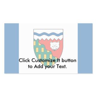 Bandera de los territorios del noroeste plantilla de tarjeta personal